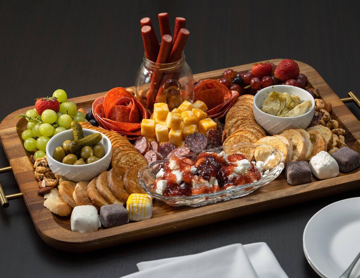 gourmet cheese board at Humboldt TN inn