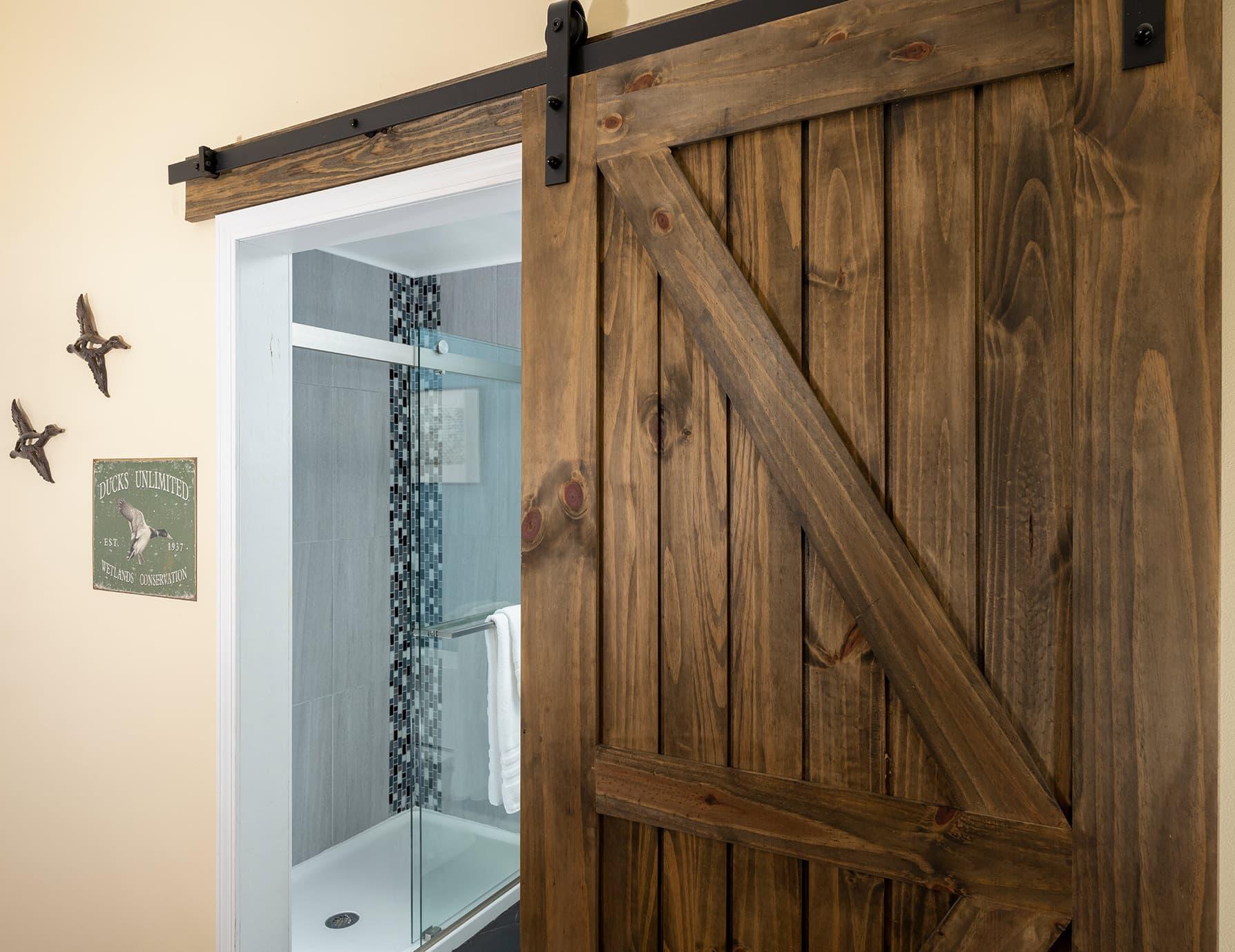 Flyways room bathroom door
