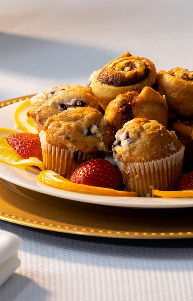 plate of muffins at our West Tennessee bed and breakfast