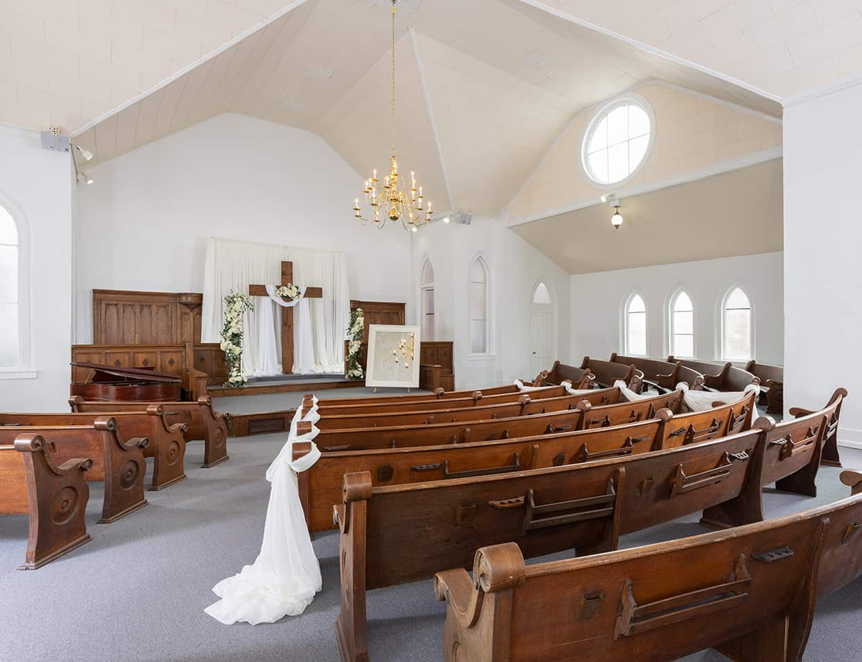 The Chapel at our West Tennessee wedding venue