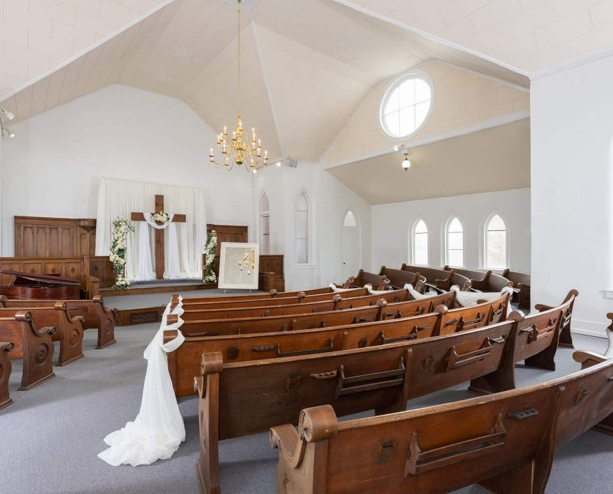Wedding Chapel at our West Tennessee Event Center