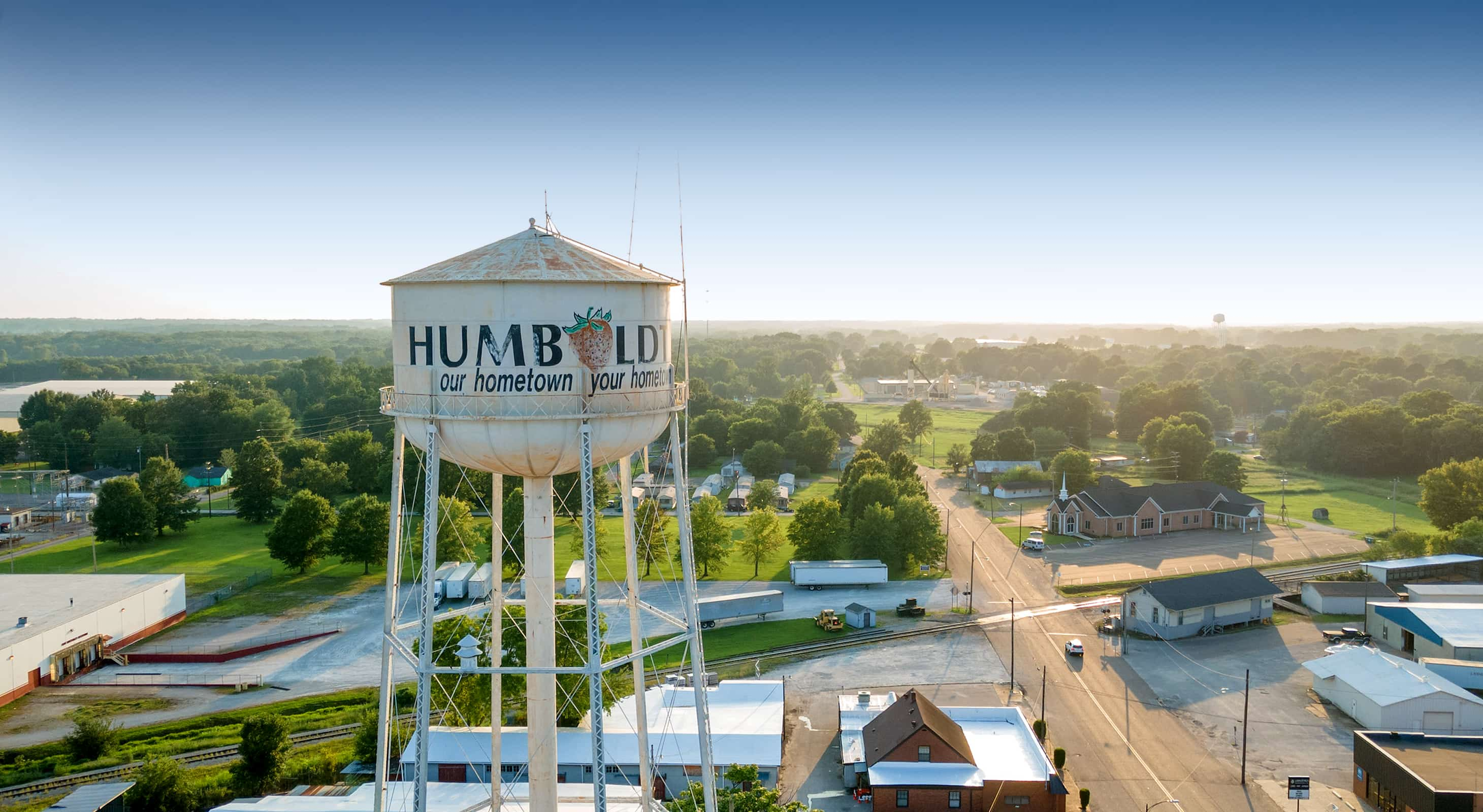Aerial view of Humboldt, TN - West Tennessee Travel Guide