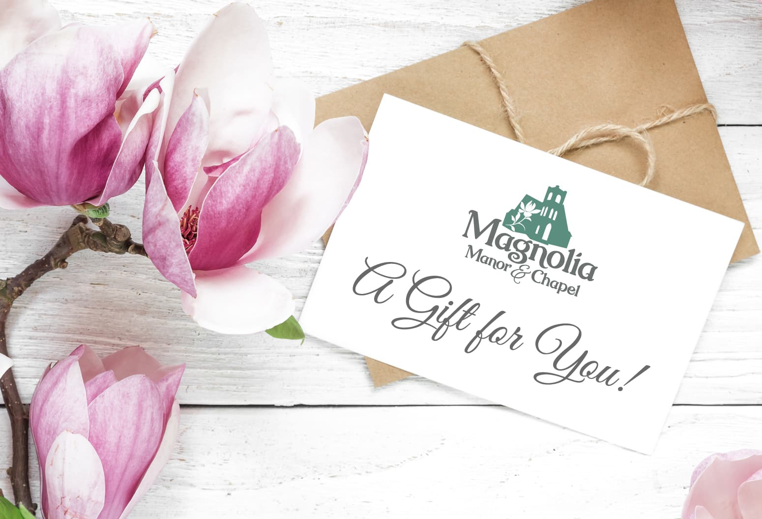 Magnolia Manor gift certificate with flowers